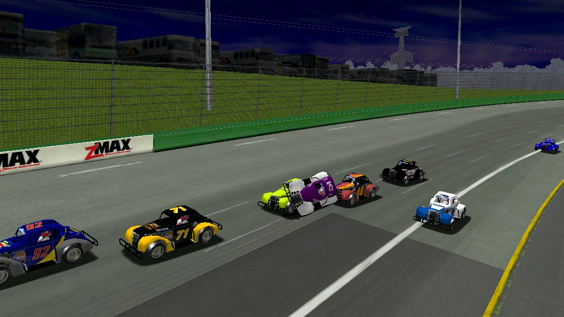 Speedy survives a piggybacking car late in the race before finding the lead -- Photo credit: viagra6car / HeatFinder