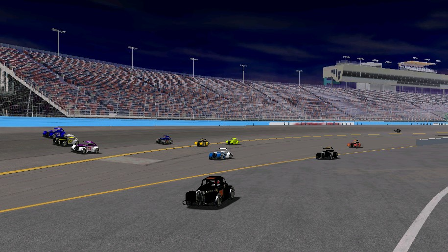 Drivers used every bit of pavement at the new ISM Raceway -- Photo credit: viagra6car / HeatFinder