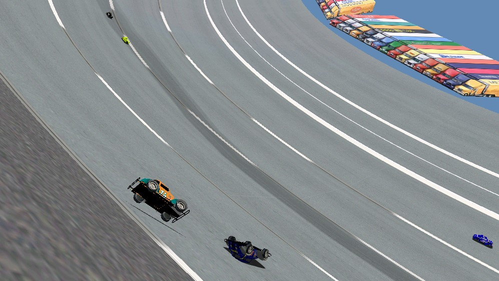 Redimuss and BlackKnight roll down the banking from the lead early on. -- Photo credit: viagra6car / HeatFinder