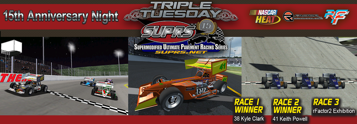 Kyle Clark, Keith Powell, and SUPRS all Winners on 15th Anniversary Special Night.