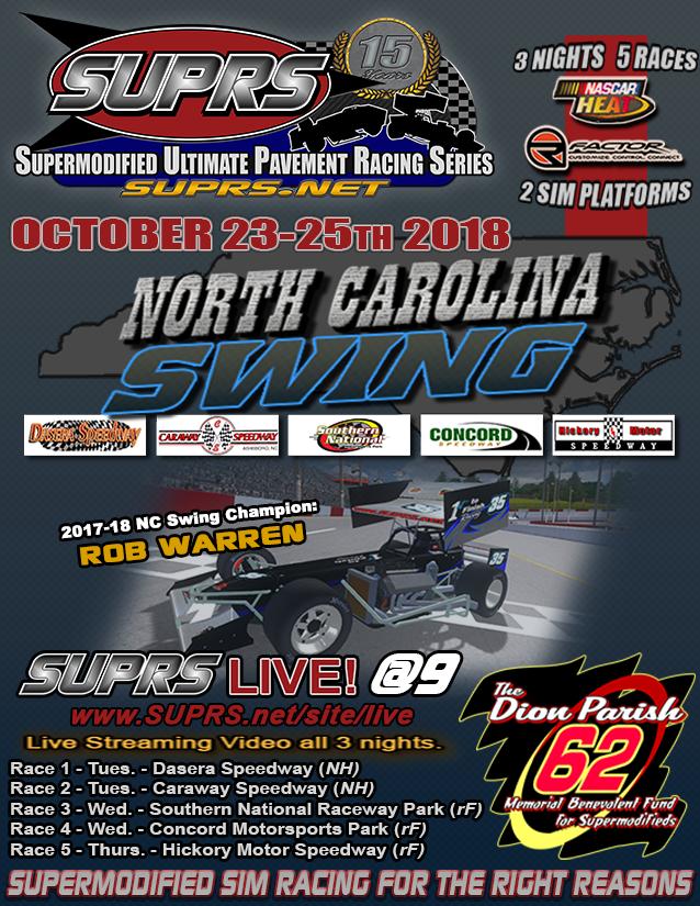 SUPRS 2018 North Carolina Swing Poster (SUPRS)
