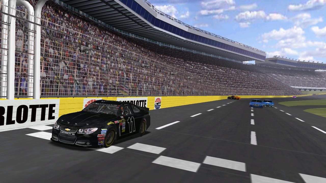 Speedyman11 wins Bill DeVerville - Patch Memorial Charlotte 200 while Donaldson wrecks behind (Credit: DusterLag / HeatFinder)