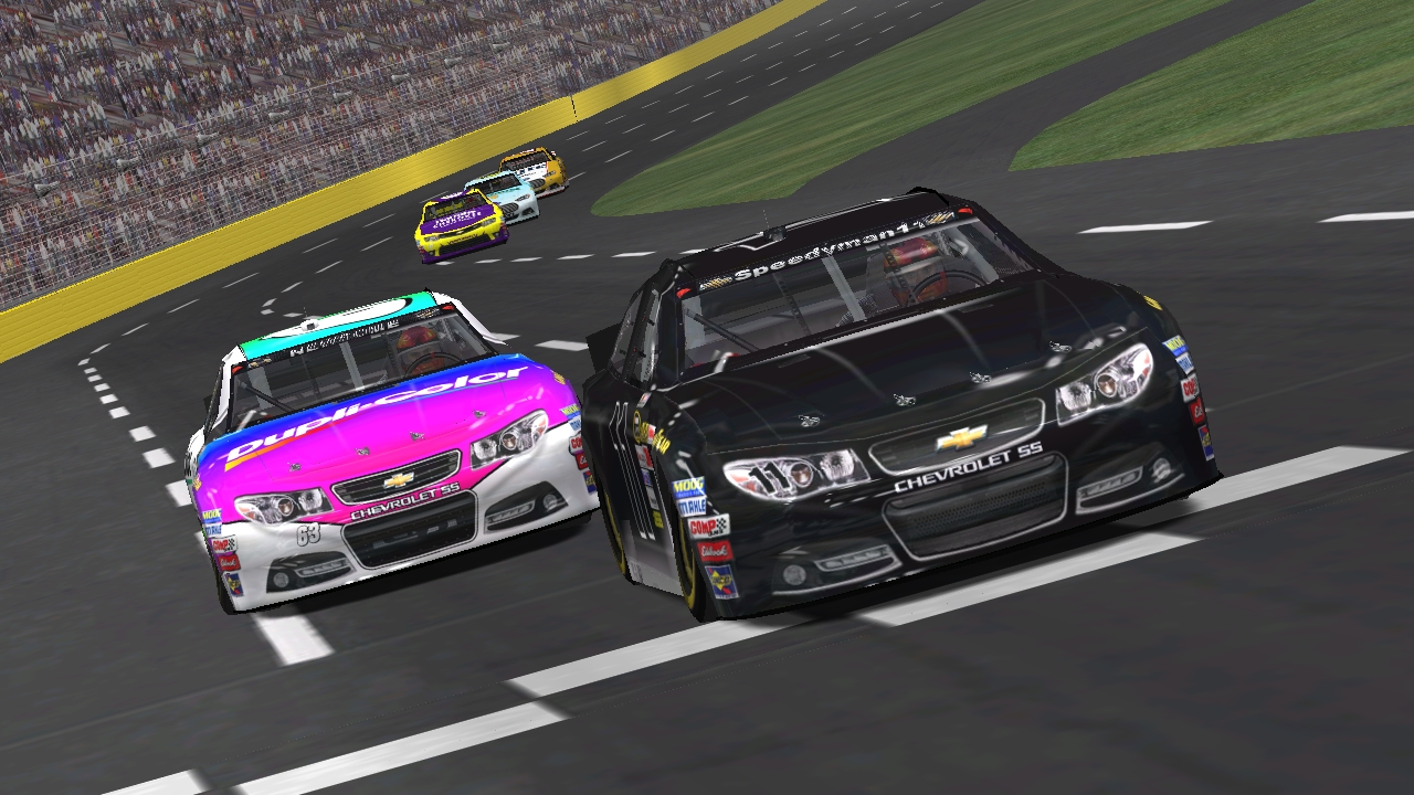 Speedyman11 takes the checkered flag over KartRacer63 at the 2016 All-Star Race