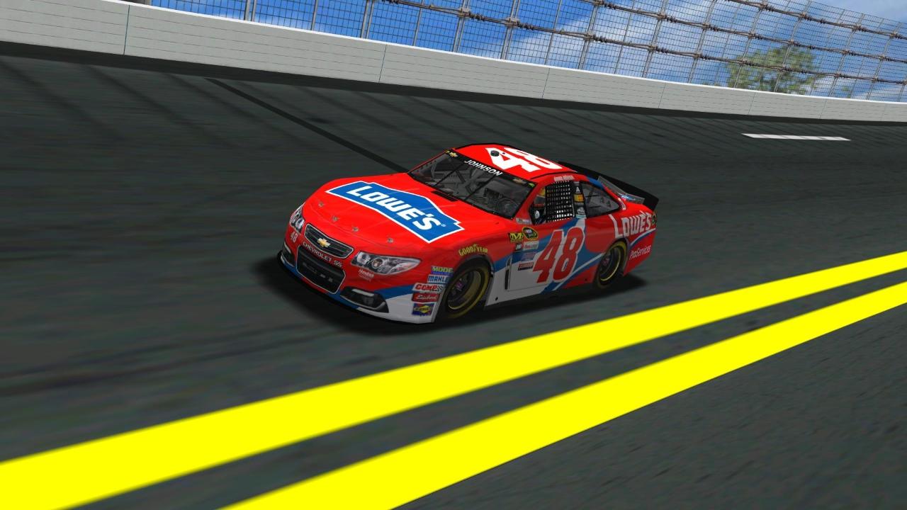 Rookiesrock's #48 Lowe's Chevrolet (Credit: KartRacer63 / HeatFinder)