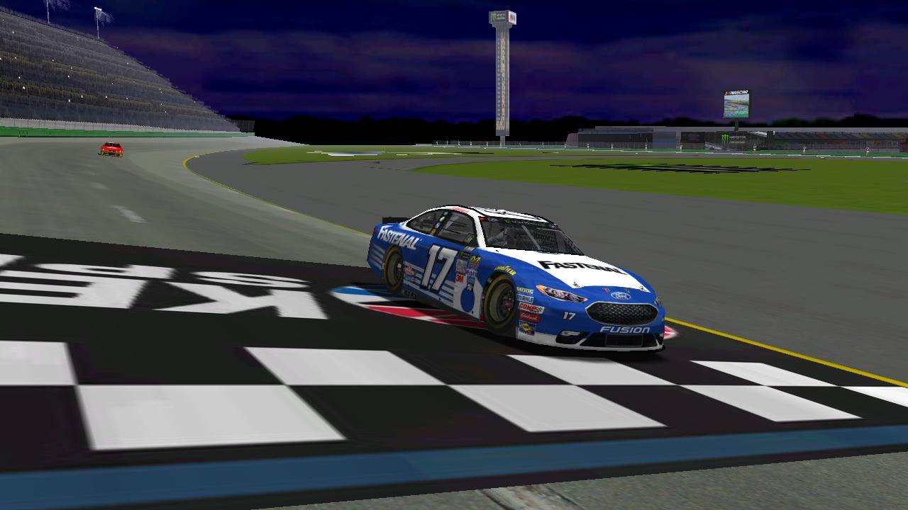 lepage71 crosses the finish line at Kentucky Motor Speedway. (Credit: DusterLag / HeatFinder)