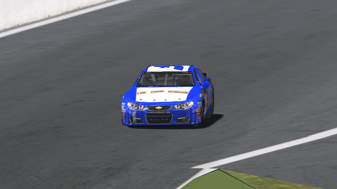 Donaldson on track during the 2017 Patch Cup Series Brickyard 150. (Credit: DusterLag / HeatFinder)
