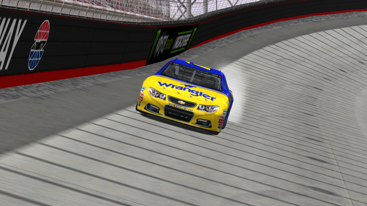 Speedyman11 at Bristol Motor Speedway. (Credit: DusterLag / HeatFinder)