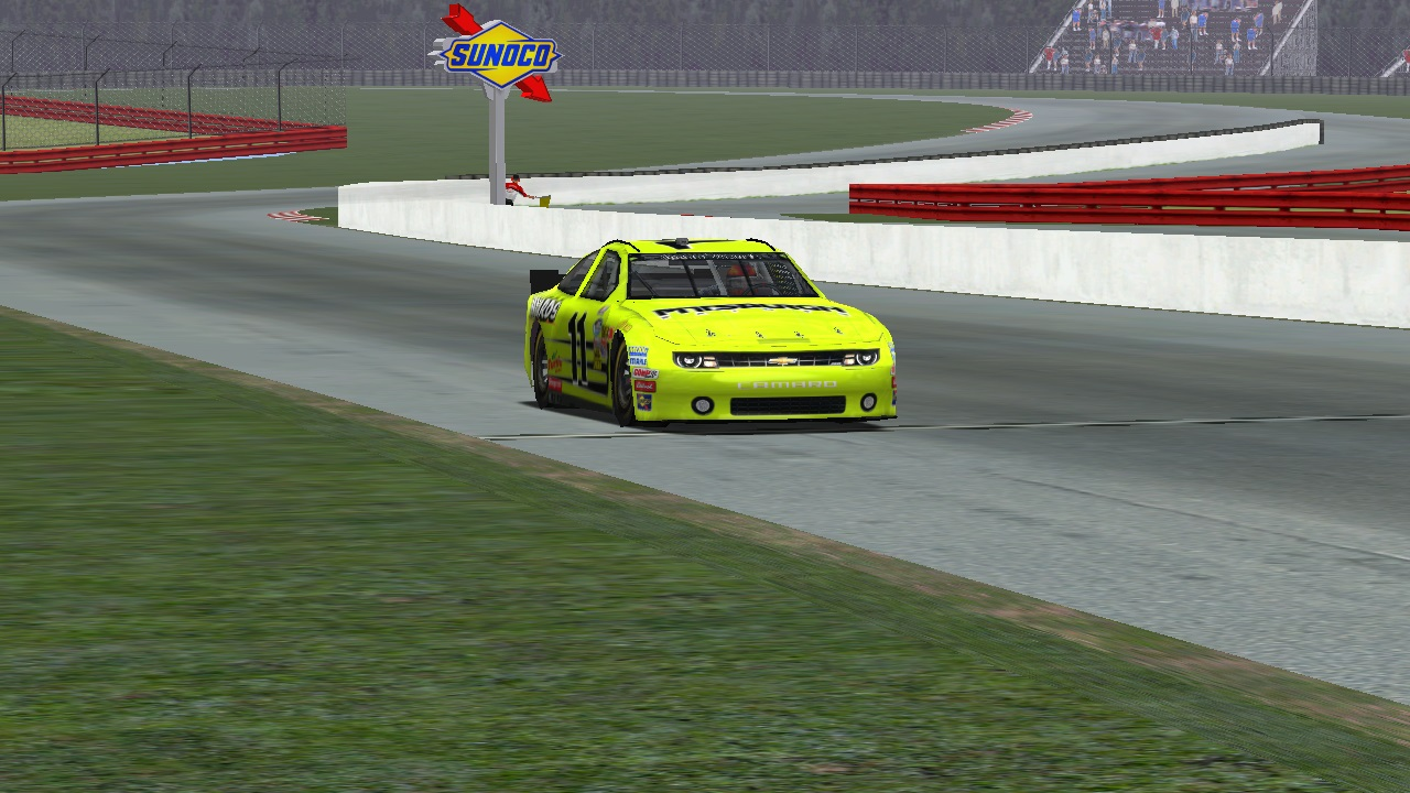 Speedyman11 crosses the finish line at the Mid-Ohio Sports Car Course. (Credit: puttzracer / HeatFinder)