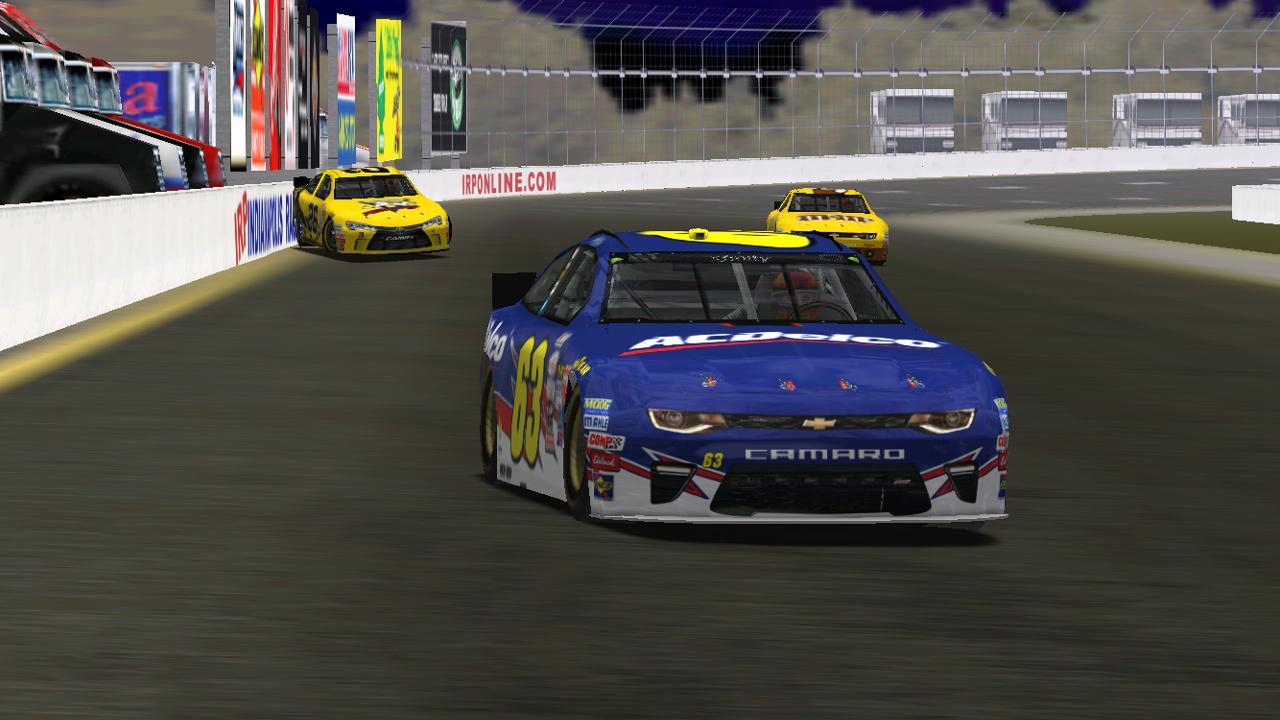 KartRacer63 on the final lap of the Brownsburg Indy Raceway Park 60 Saturday night. (Credit: DusterLag / HeatFinder)