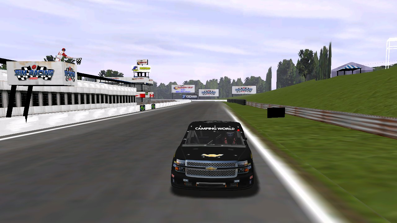 Speedyman11 crosses the line to win race two at Heartland Park Topeka