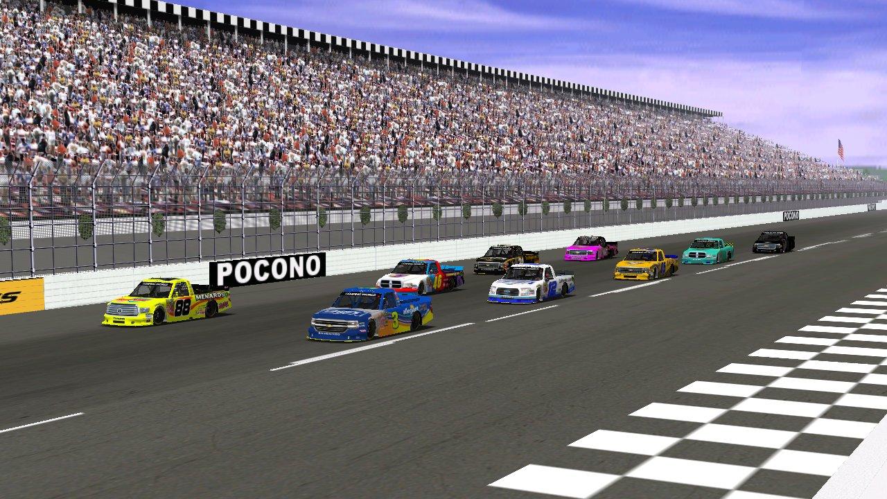 Rookiesrock leads the Pocono Mountains 100 grid Wednesday night. (Credit: Grumpy / HeatFinder)