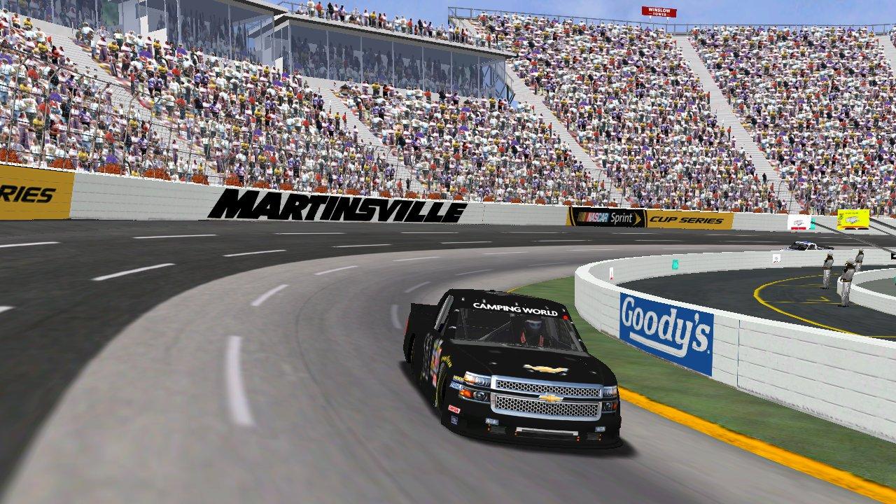 Speedyman11 on track during Wednesday's Martinsville Paper Clip 125 (Credit: Grumpy / HeatFinder)
