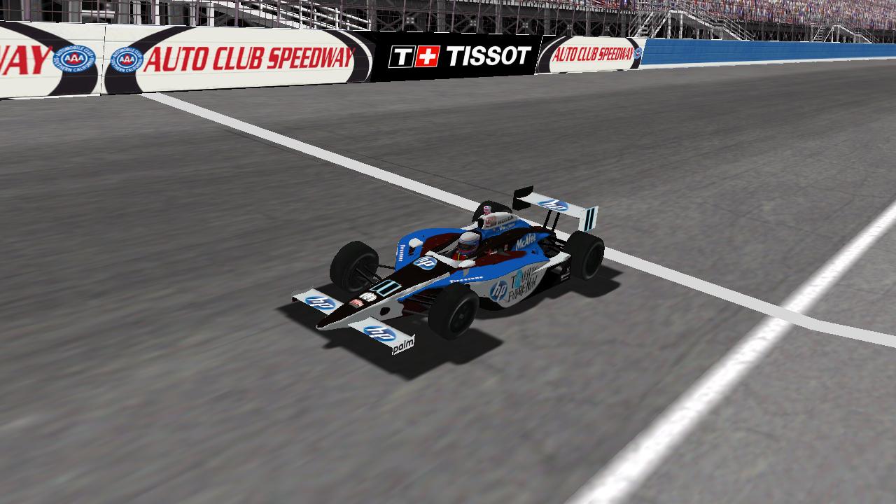 Speedyman11 at Auto Club Speedway on Wednesday night. (Credit: DusterLag / HeatFinder)