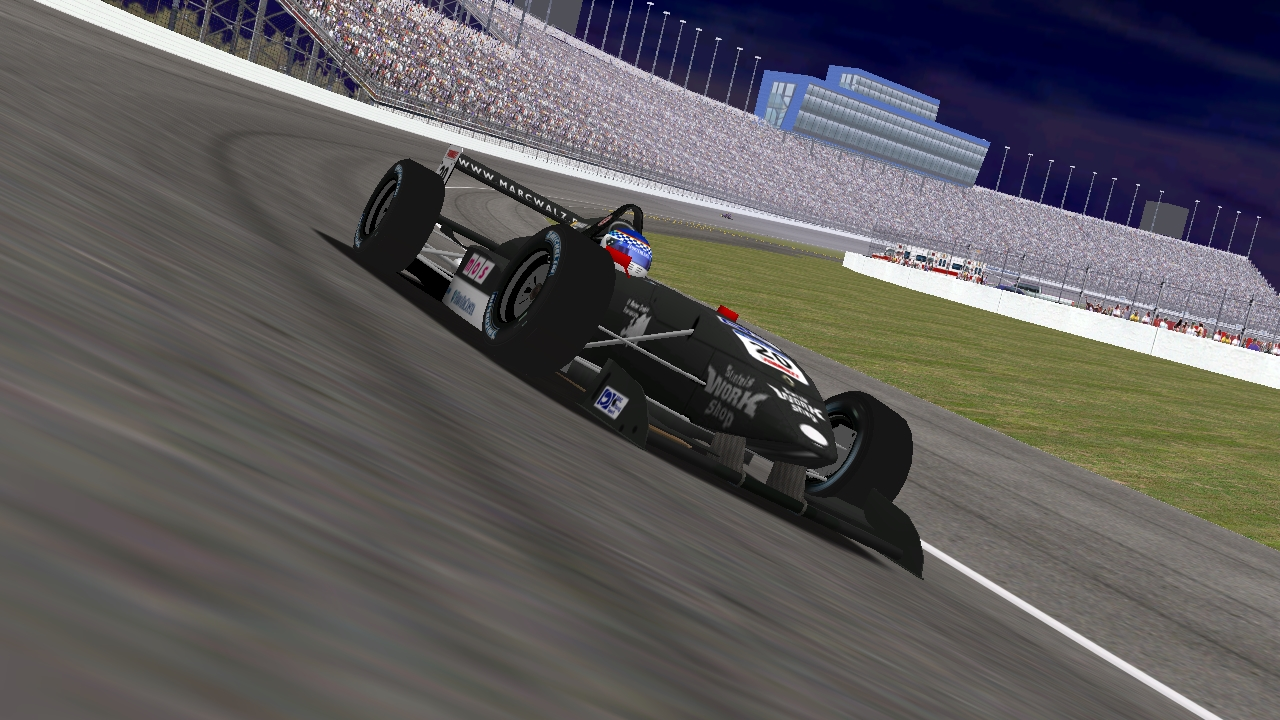 Speedyman11 leading at Chicagoland (KartRacer63 / HeatFinder)