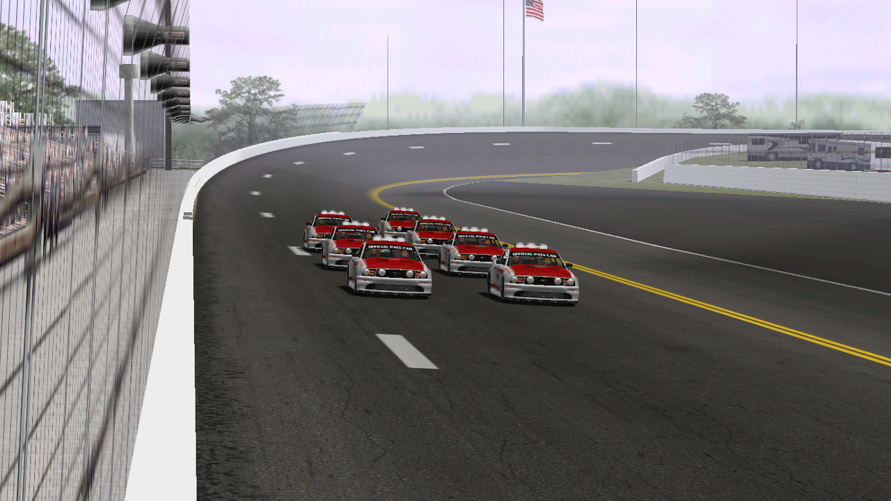 Grid for the first Pace Car Challenge Special Event with KartRacer63 on the pole. (DusterLag / HeatFinder)