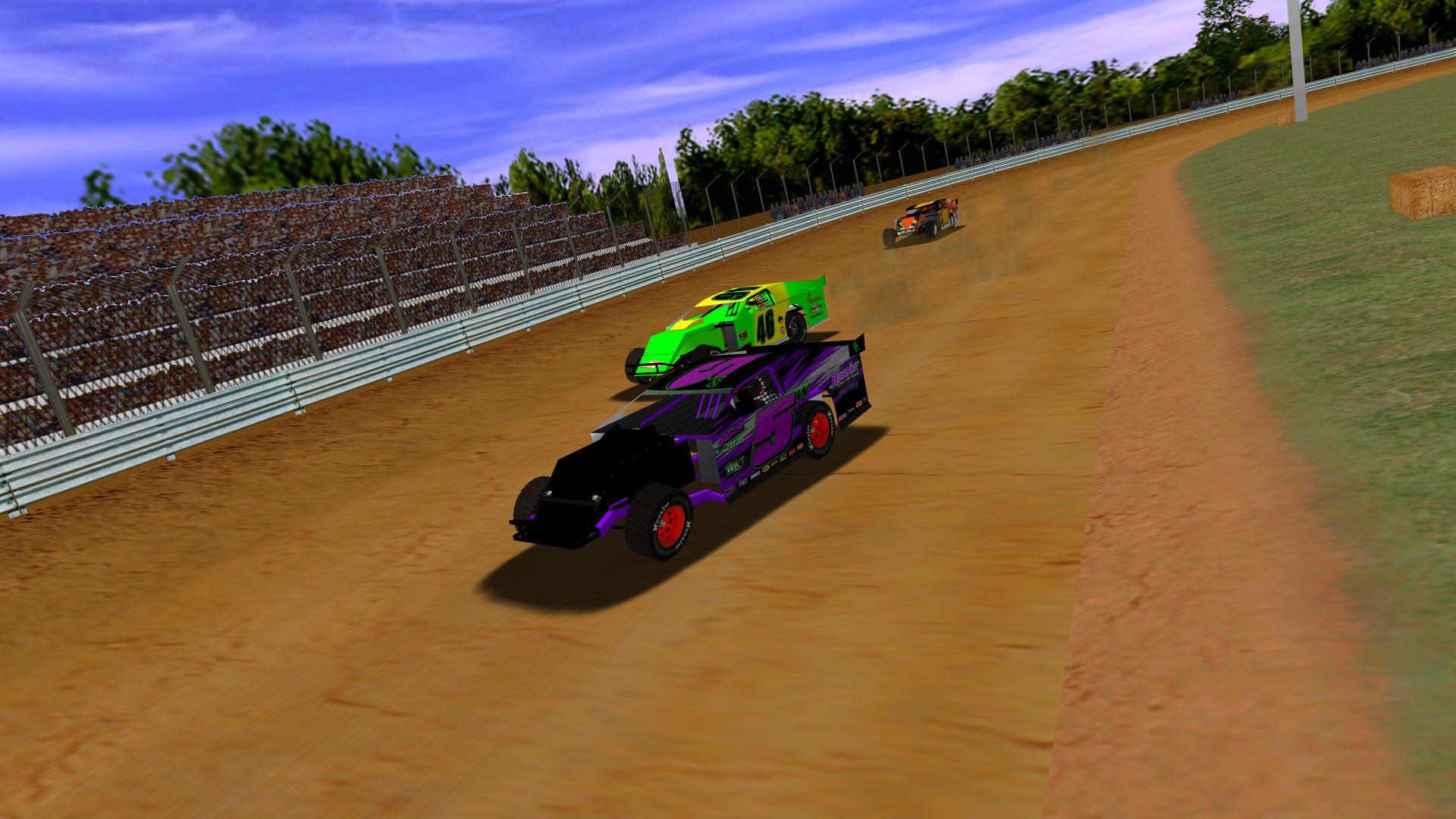 Donaldson leading puttzracer and KartRacer63 to the flag at Finish Line. (Credit: KartRacer63)