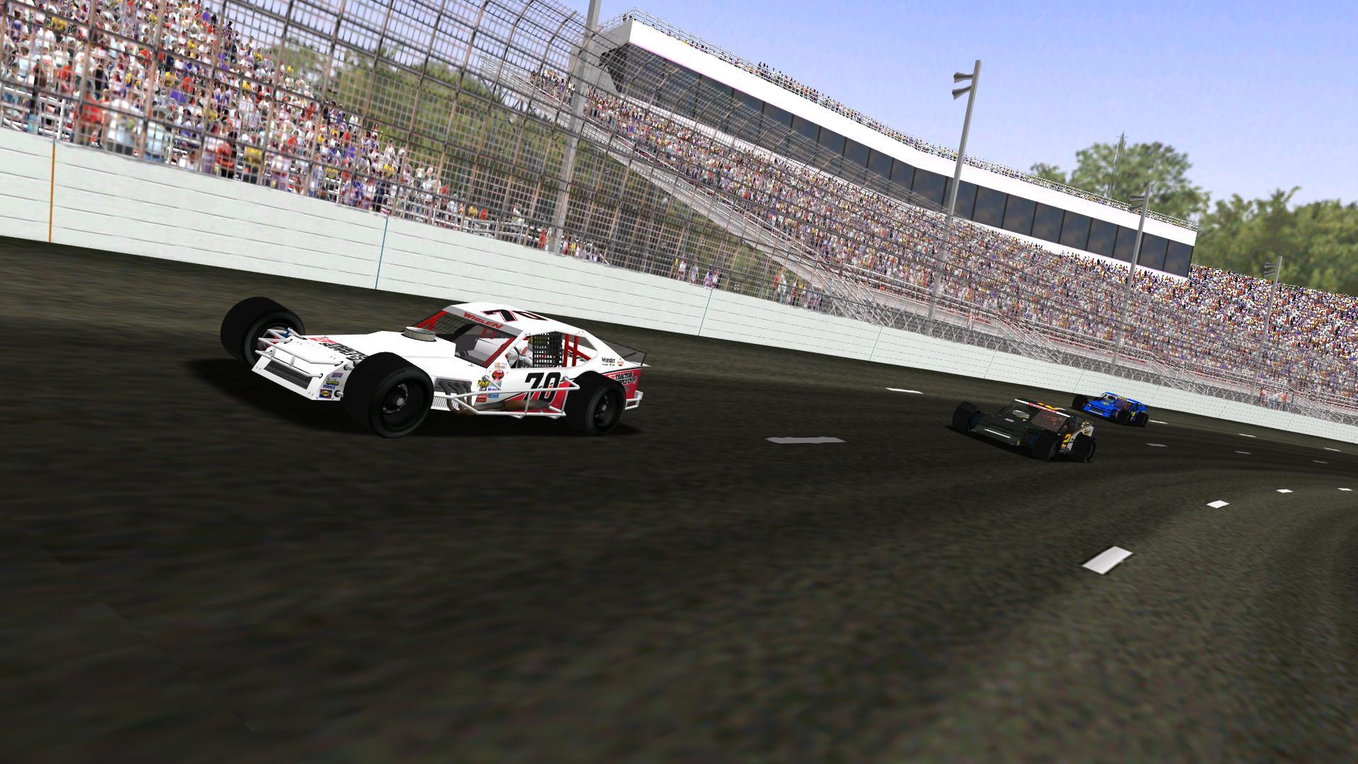 lepage71 leads Speedyman11 and Rookiesrock through turns 3 & 4. (NHMA)