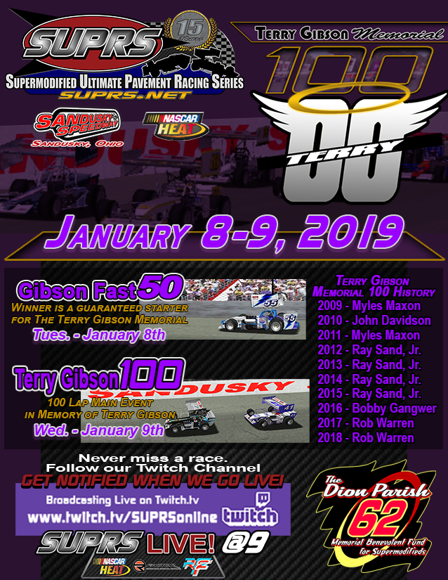 SUPRS Terry Gibson Memorial is part of the SUPRS/HeatFinder.net Supermodified Challenge