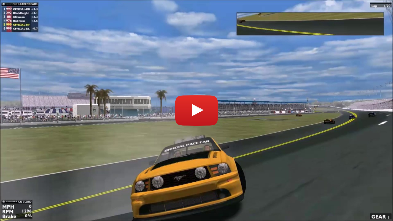 Pace car trouble during the the ARL Patch Cup Series Daytona 200 Qualifier Race 2 held on Saturday, February 18th 2017.